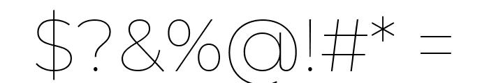 Montserrat Thin Font OTHER CHARS