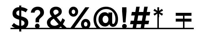 MontserratSubrayada-Regular Font OTHER CHARS