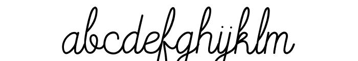 Mooglonk Font LOWERCASE