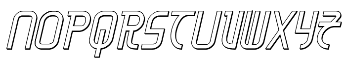 Moon Dart 3D Italic Font UPPERCASE