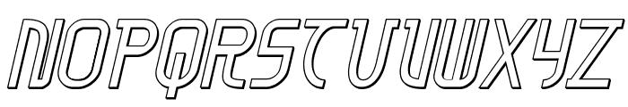 Moon Dart 3D Italic Font LOWERCASE