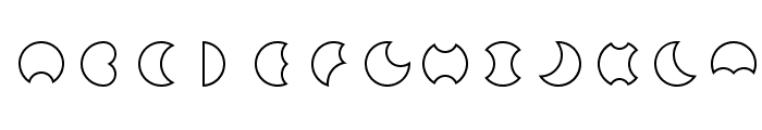 Moon Font LOWERCASE