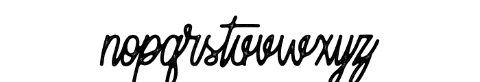 Moonchrome Rough Font LOWERCASE