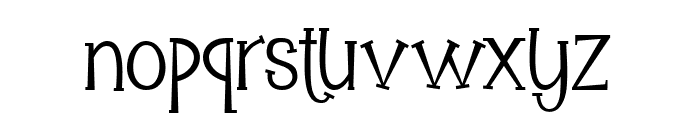 Mooncrato Font LOWERCASE