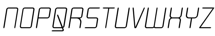 Moondog Zero Italic Font UPPERCASE