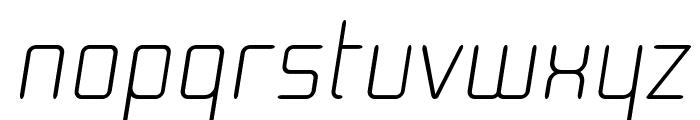 Moondog Zero Italic Font LOWERCASE