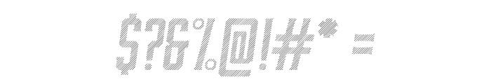 Moonshiner-ObliqueLines Font OTHER CHARS