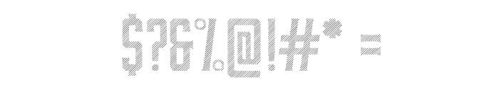 Moonshiner-RegularLines Font OTHER CHARS