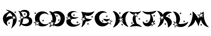 Moonstar Font UPPERCASE