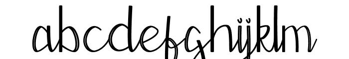 Moontea Script Family Font LOWERCASE