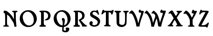 Mops Antiqua Font UPPERCASE