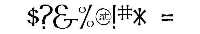 Mordred Font OTHER CHARS