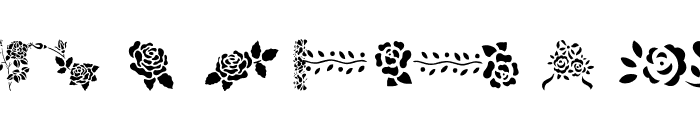 More Roses! Font UPPERCASE