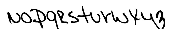 Morgan Regular Font LOWERCASE