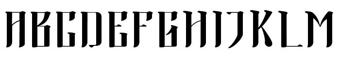 Morning Calm Font UPPERCASE