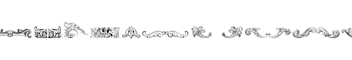 Mortised Ornaments Free Font UPPERCASE