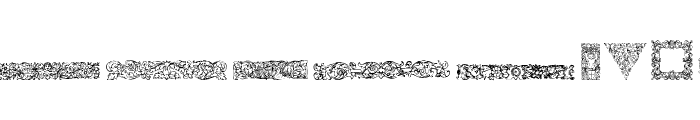 Mortised Ornaments Free Font LOWERCASE