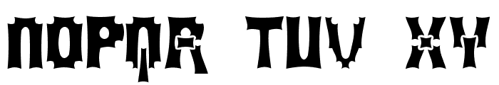 MortumHead Ghomout Font UPPERCASE