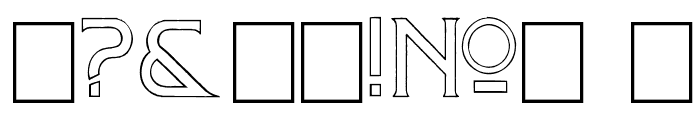 Mosaic_Outline Font OTHER CHARS