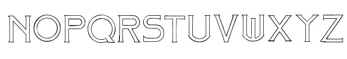 Mosaic_Outline Font UPPERCASE