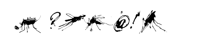 Mosquito Italic Font OTHER CHARS