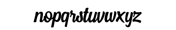 MostleyScript Font LOWERCASE
