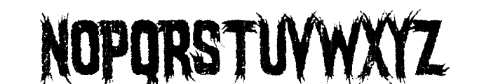 Mostly Ghostly Font UPPERCASE