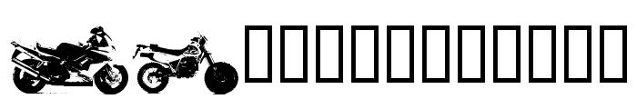 MotorBikez Font UPPERCASE