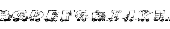 Motoring Font LOWERCASE