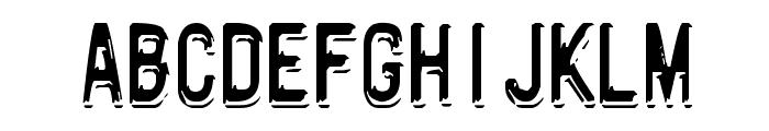 Motorway Font UPPERCASE