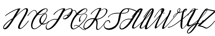 Mottingham Elegant Calligraphy Font UPPERCASE