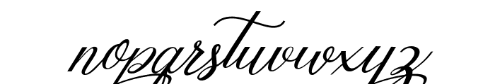 Mottingham Elegant Calligraphy Font LOWERCASE