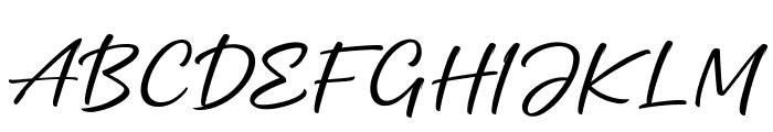 Mottingham Script Regular Font UPPERCASE