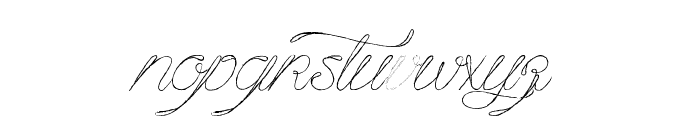 Mougatine Font LOWERCASE