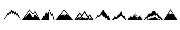 Mountain Font OTHER CHARS
