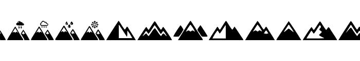 Mountain Font UPPERCASE