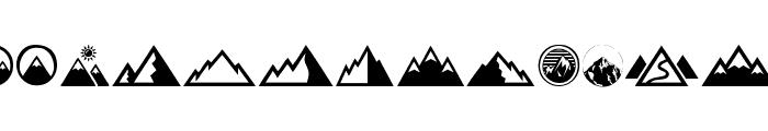 Mountain Font LOWERCASE
