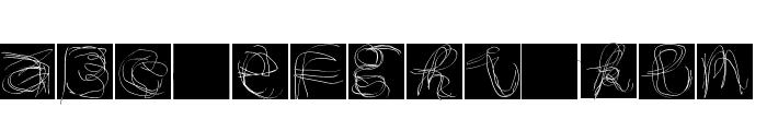 MouseAlphabets Font UPPERCASE
