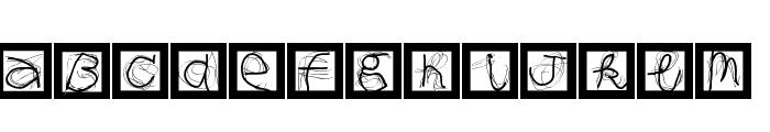 MouseAlphabets Font LOWERCASE