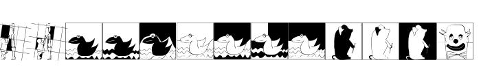 MouseAsBrush Font LOWERCASE