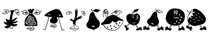 MouseFruitFaces Font OTHER CHARS