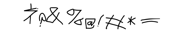 MouseGrafitty Font OTHER CHARS