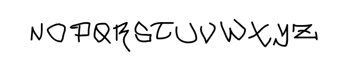 MouseGrafitty Font UPPERCASE