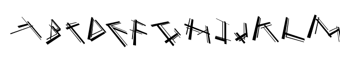 MouseStrokes3D Font UPPERCASE