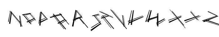 MouseStrokes3D Font LOWERCASE