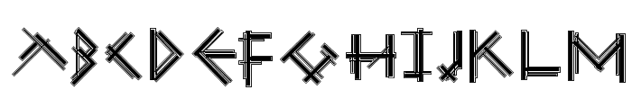 MouseStrokesCont Font UPPERCASE