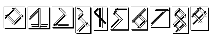 MouseStrokesInverseShadow Font OTHER CHARS