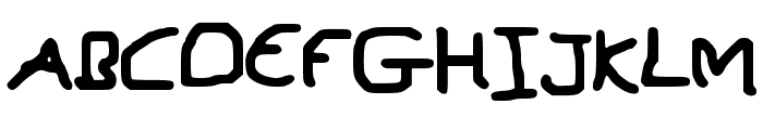 MouseWritten Font UPPERCASE