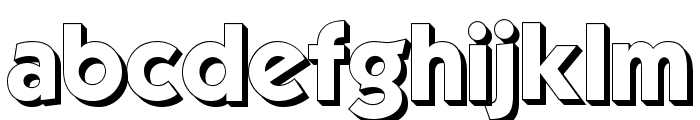 Mouser 3D Font LOWERCASE