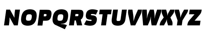 Movavi Grotesque Black Italic Font UPPERCASE